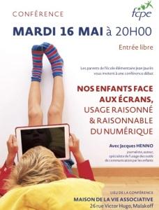 """Conférence débat """"Nos enfants face aux écrans"""""""